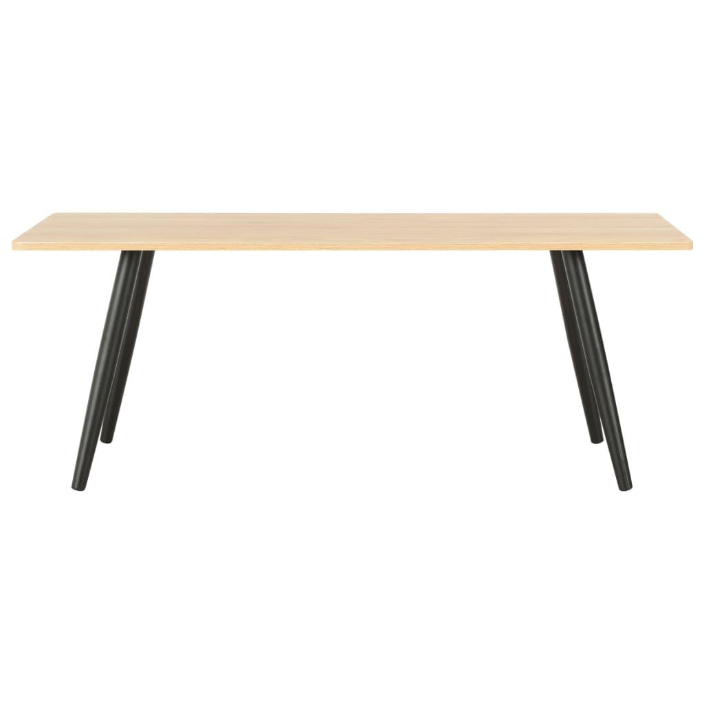 vidaXL Soffbord svart och ek 120x60x46 cm