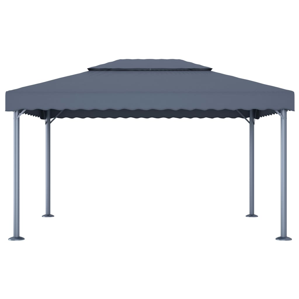 Paviljong 400x300 cm antracit aluminium