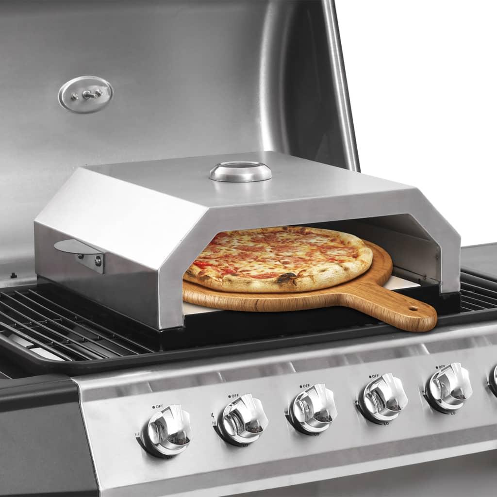 Pizzaugn med keramisk sten för gas/kol-grill