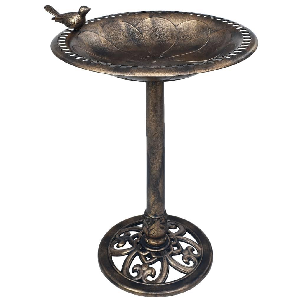 Fågelbad brons plast