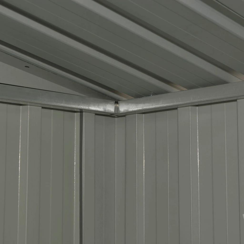 Förvaringsbod antracit stål 204x132x186 cm