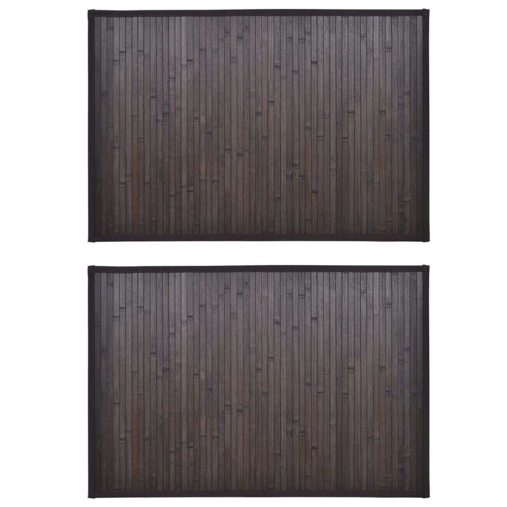 Bambumattor 2 st 60x90 cm mörkbrun
