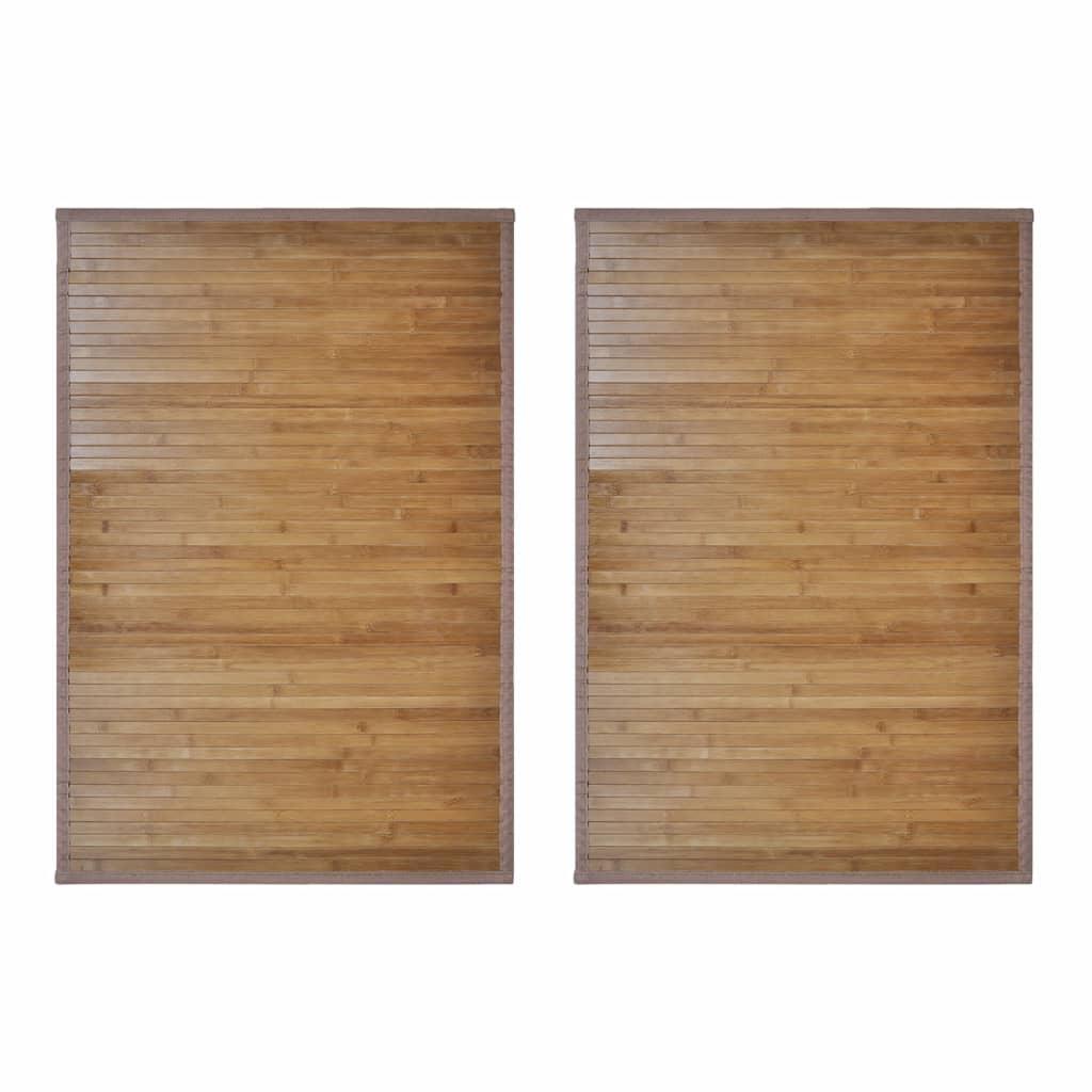 Bambumattor 2 st 60 x 90 cm brun