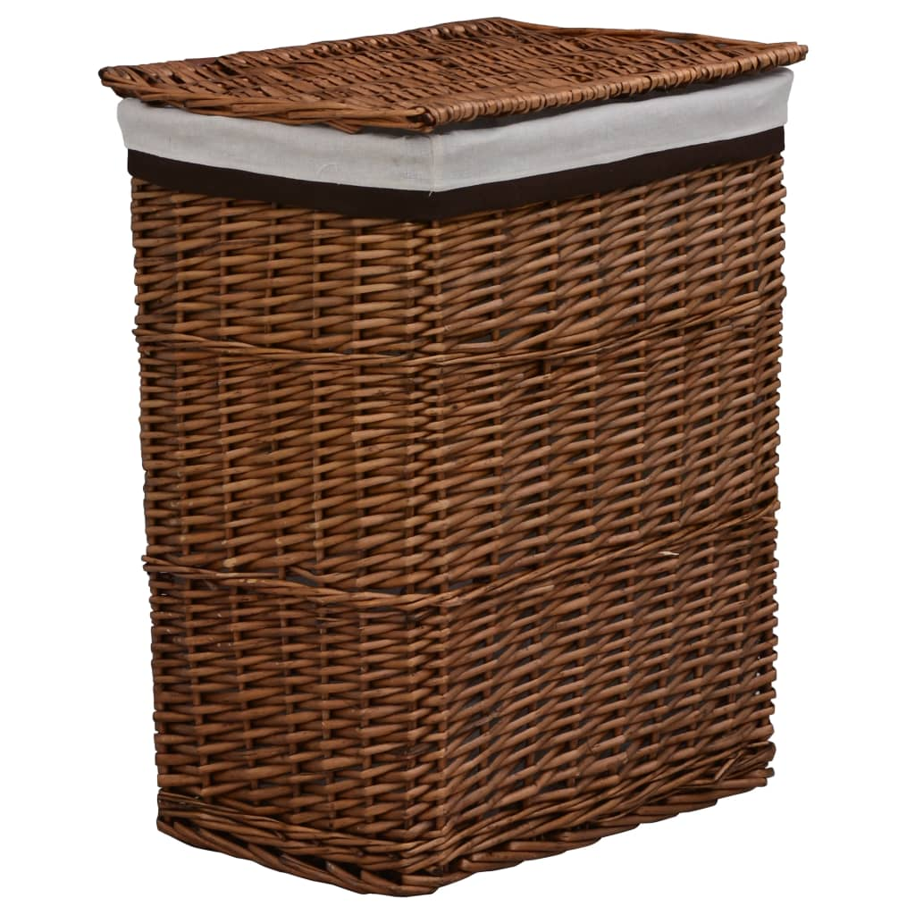 Stapelbar tvättkorg brun pil