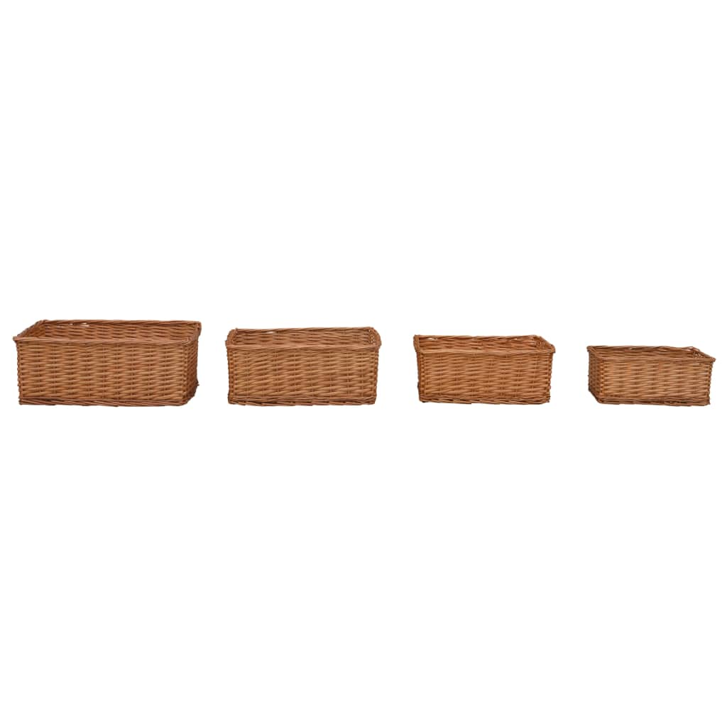 Stapelbara korgar 4 st brun pil