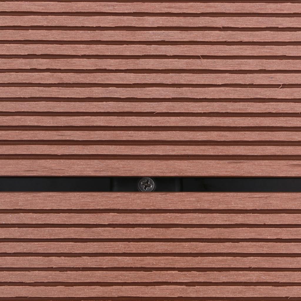 Golv till utedusch WPC rostfritt stål 80x62 cm brun