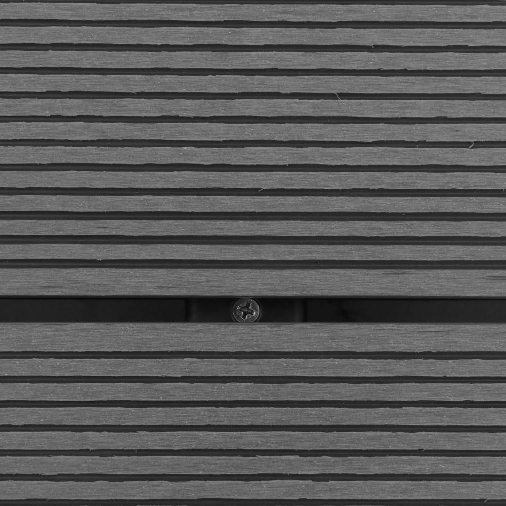 Golv till utedusch WPC rostfritt stål 80x62 cm grå