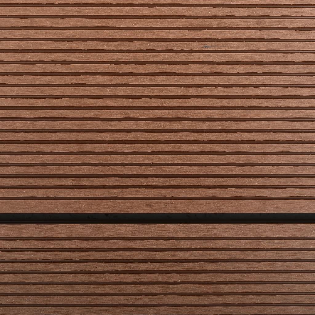 Golv till utedusch WPC rostfritt stål 110x62 cm brun