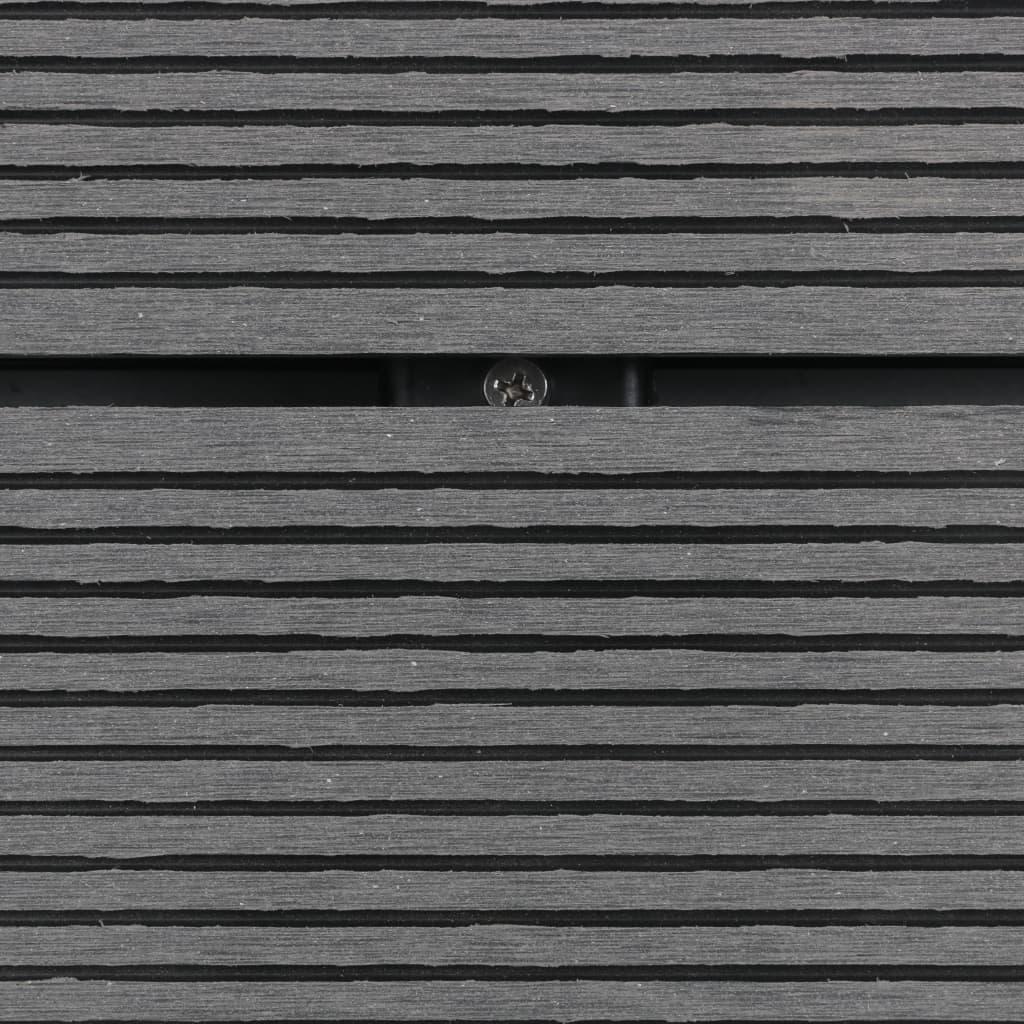 Golv till utedusch WPC rostfritt stål 110x62 cm grå
