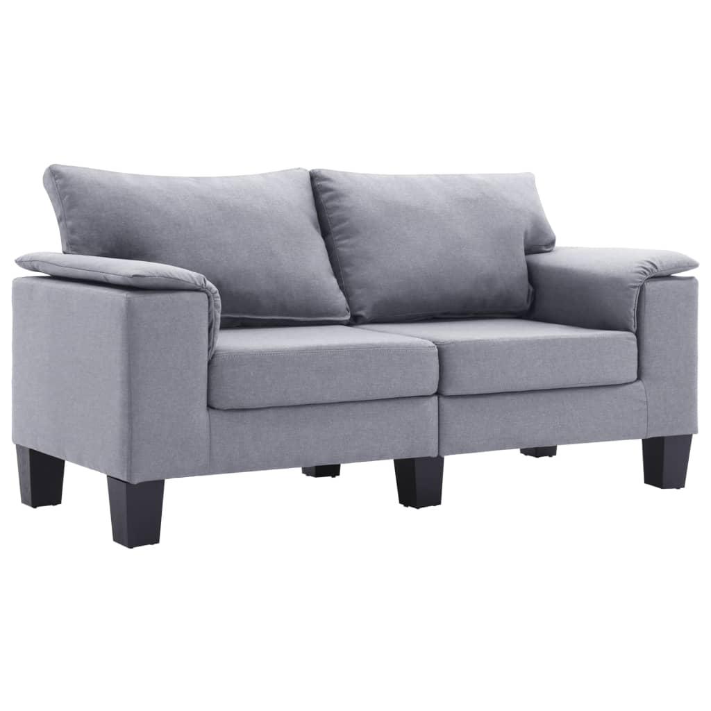 2-sitssoffa ljusgrå tyg