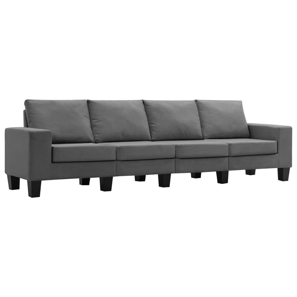 4-sitssoffa mörkgrå tyg
