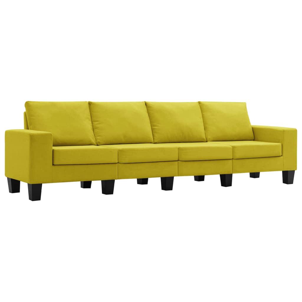 4-sitssoffa gul tyg