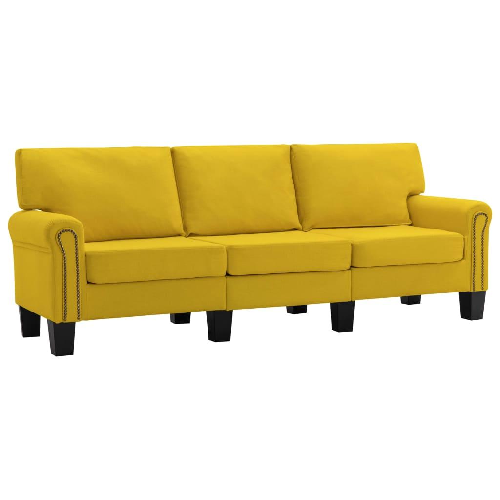 3-sitssoffa gul tyg