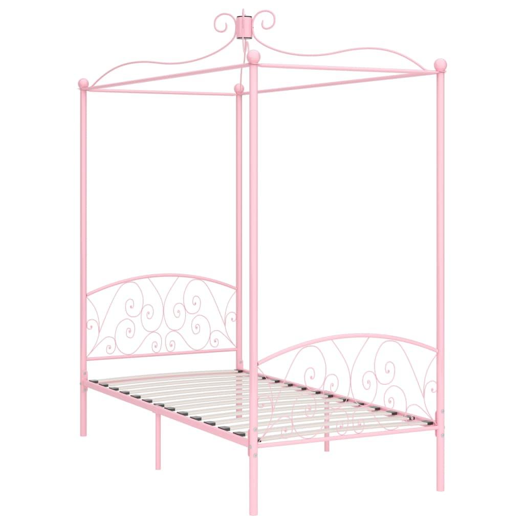 Himmelsäng rosa metall 90x200 cm