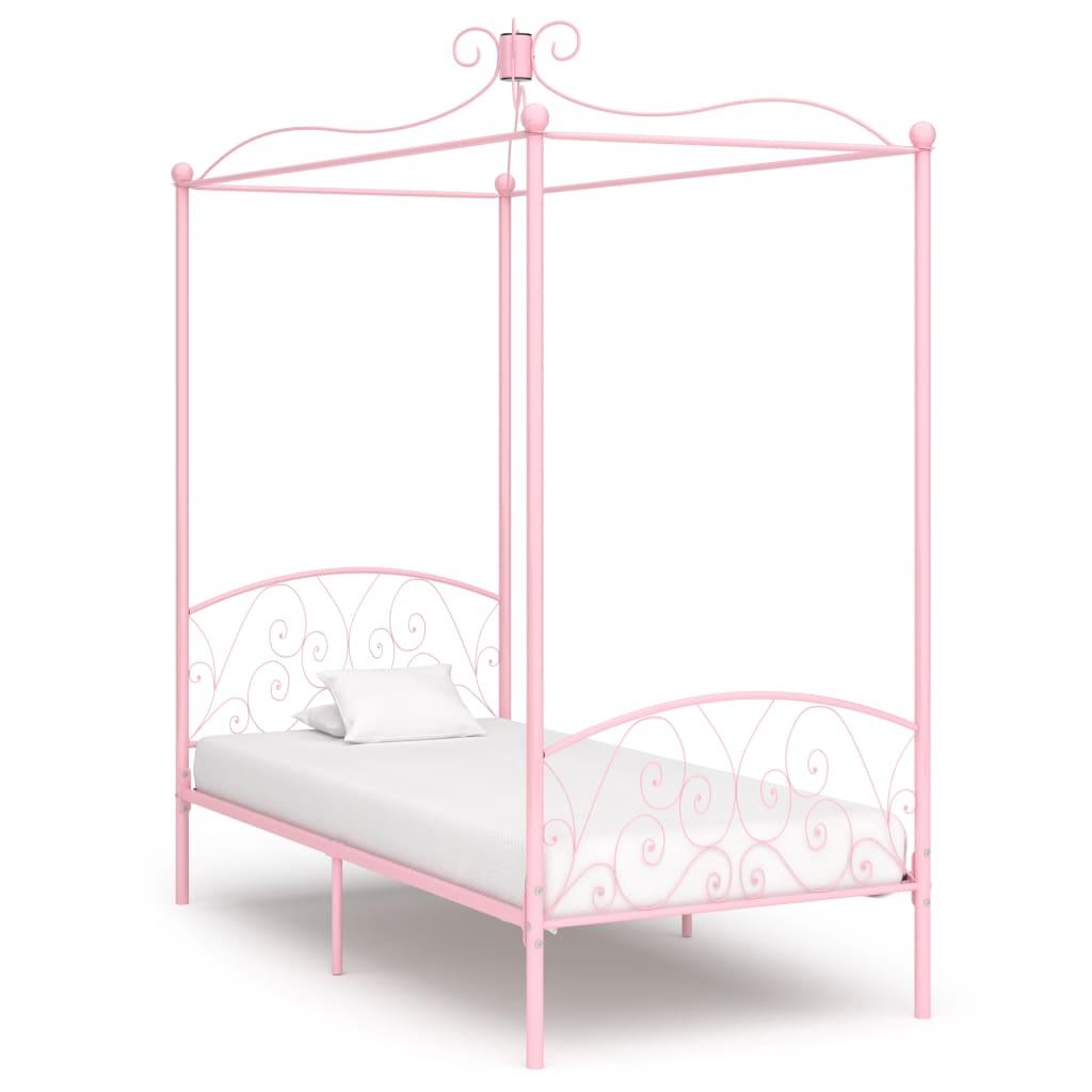 Himmelsäng rosa metall 100x200 cm