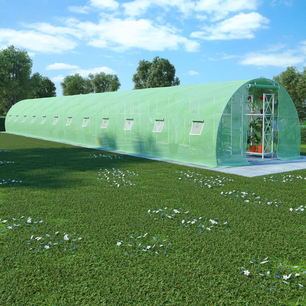 Växthus 54 m² 18x3x2 m