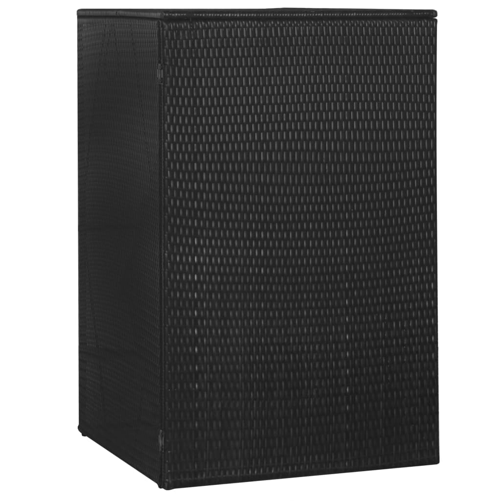 Skjul för soptunna svart 76x78x120 cm konstrotting