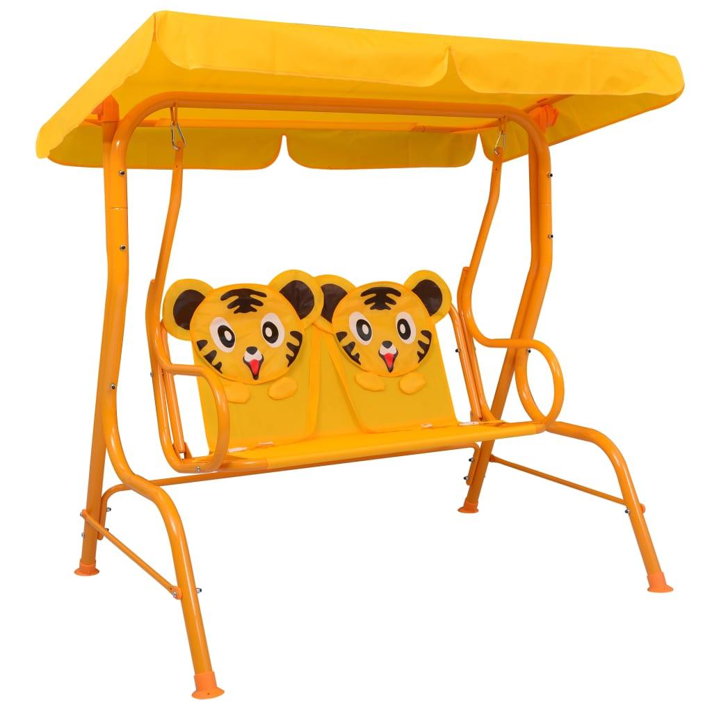 Hammock för barn gul 115x75x110 cm tyg