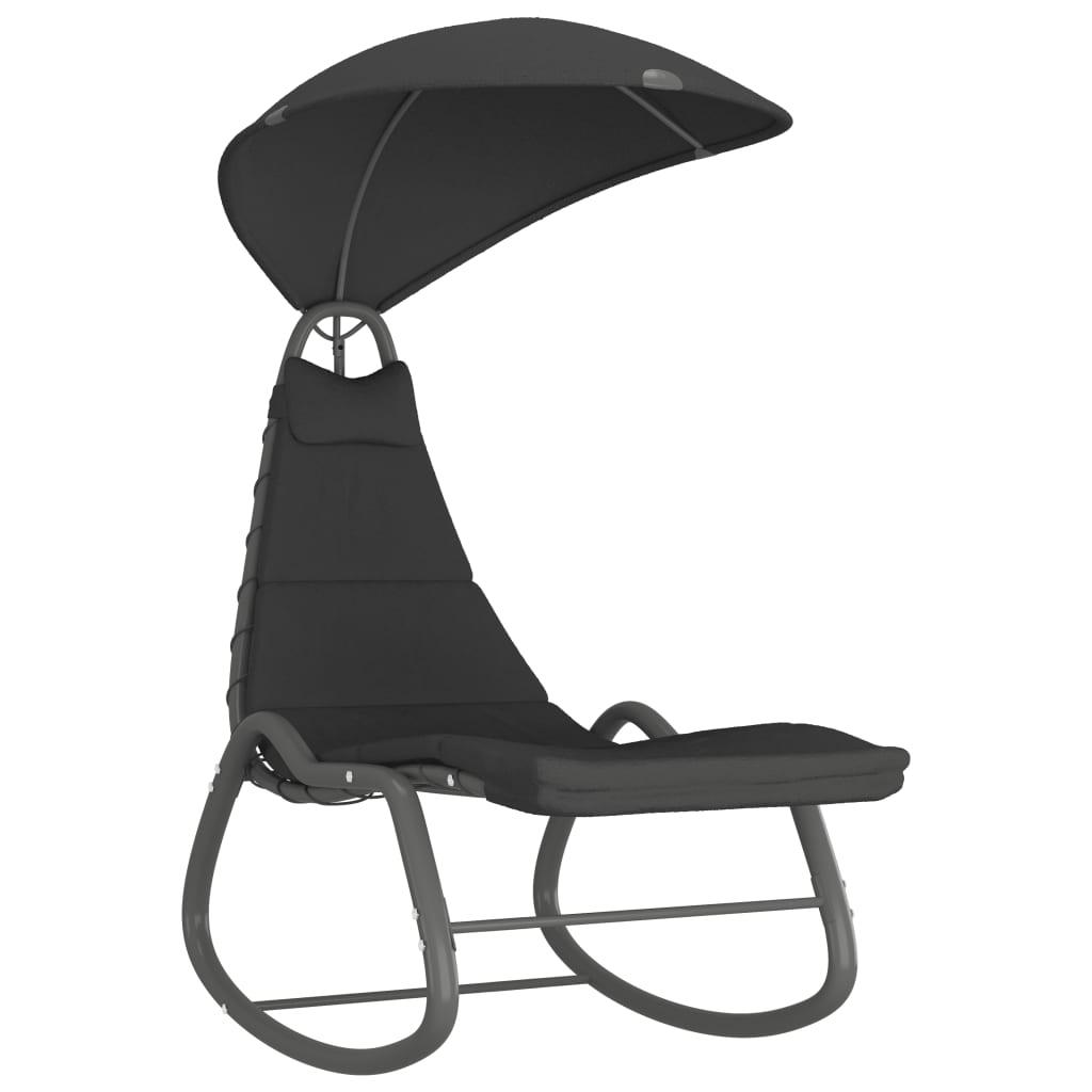 Hammock svart 160x80x195 cm tyg