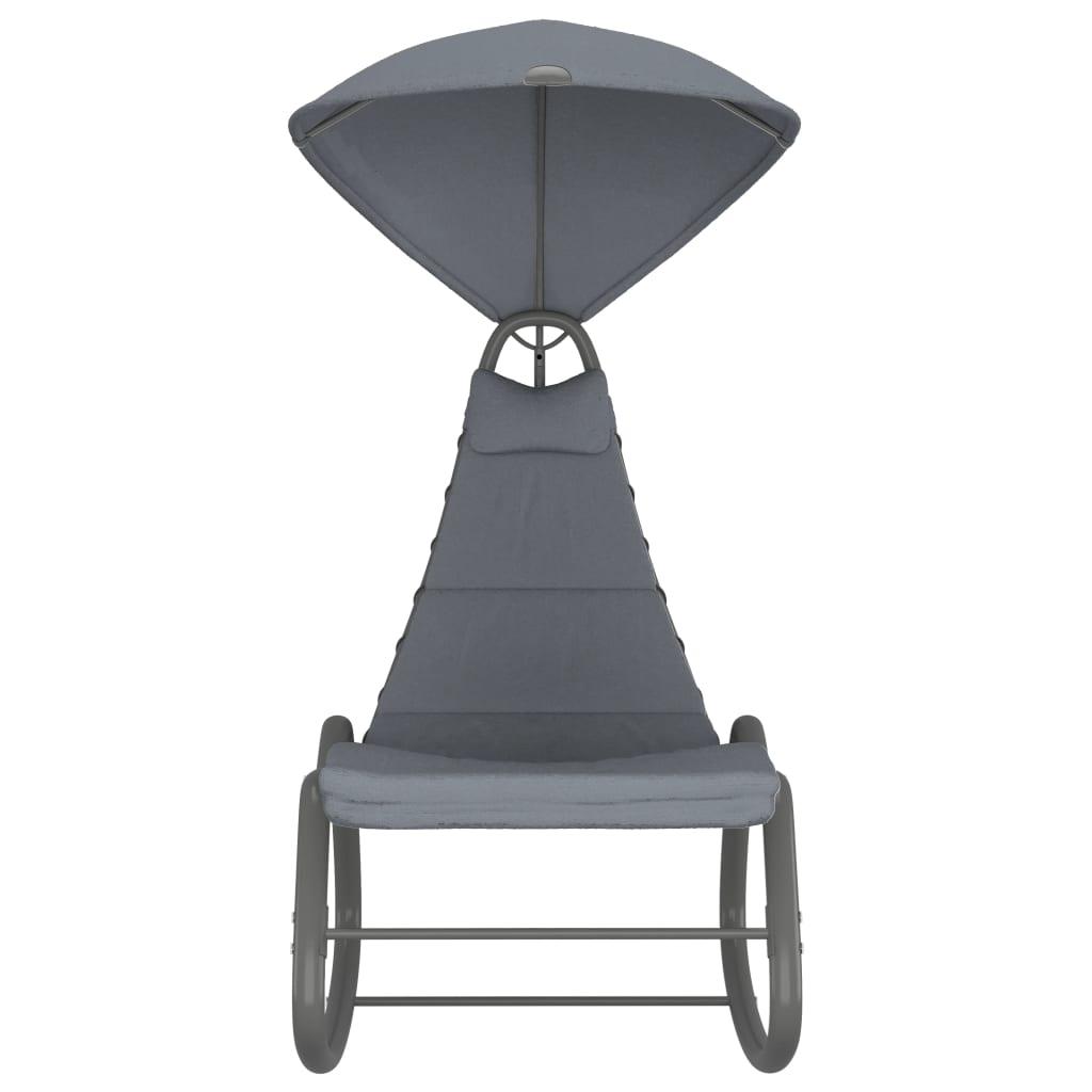 Hammock grå 160x80x195 cm tyg
