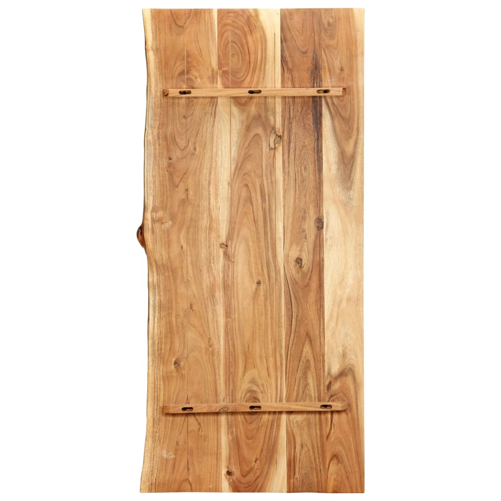 Bänkskiva för badrum massivt akaciaträ 120x55x3,8 cm
