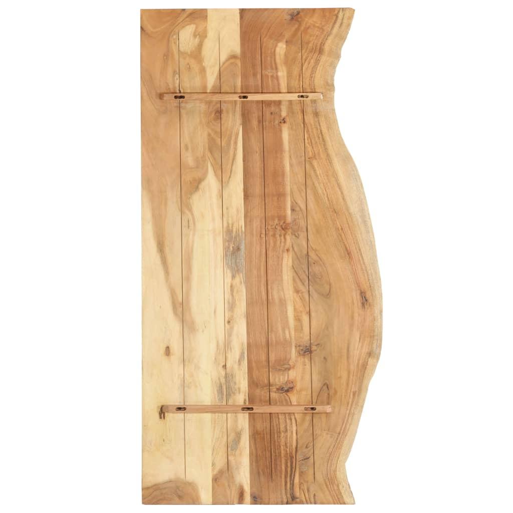 Bänkskiva för badrum massivt akaciaträ 140x55x2,5 cm