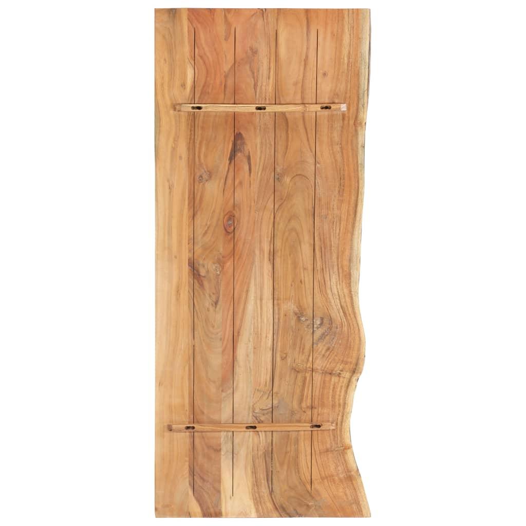 Bänkskiva för badrum massivt akaciaträ 140x55x3,8 cm