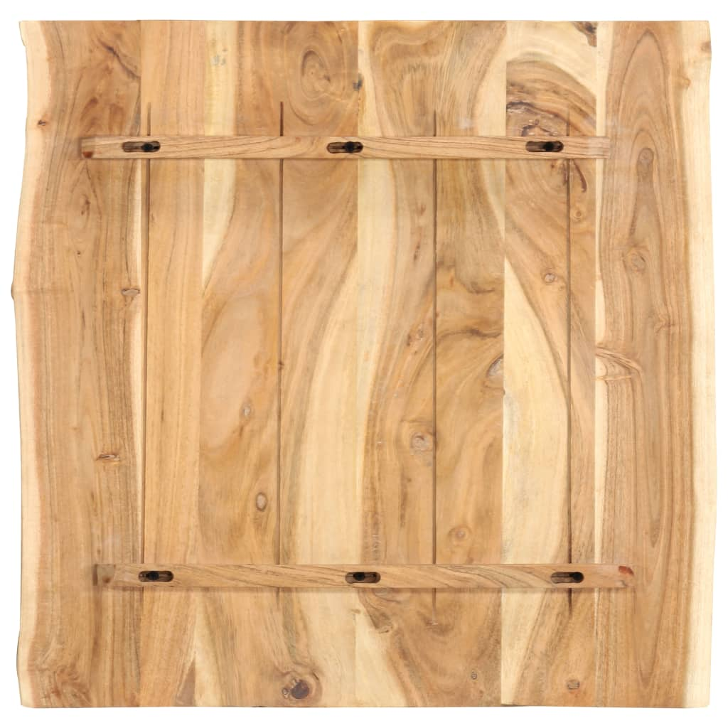 Bordsskiva massivt akaciaträ 60x60x2,5 cm