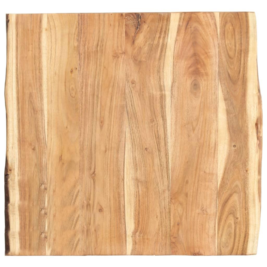 Bordsskiva massivt akaciaträ 60x60x3,8 cm