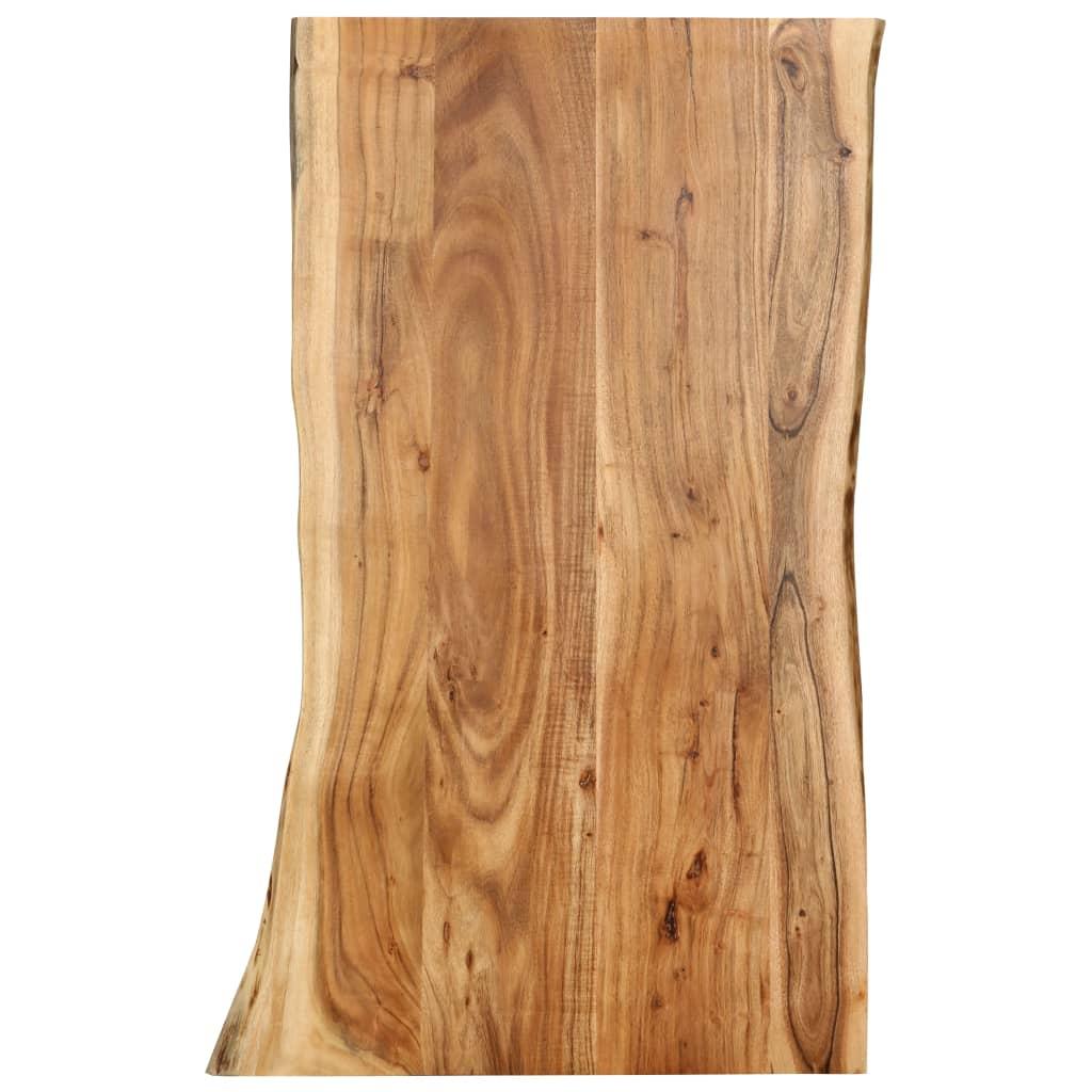 Bordsskiva massivt akaciaträ 100x60x2,5 cm