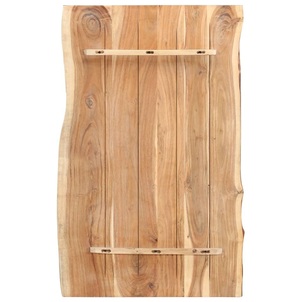 Bordsskiva massivt akaciaträ 100x60x3,8 cm