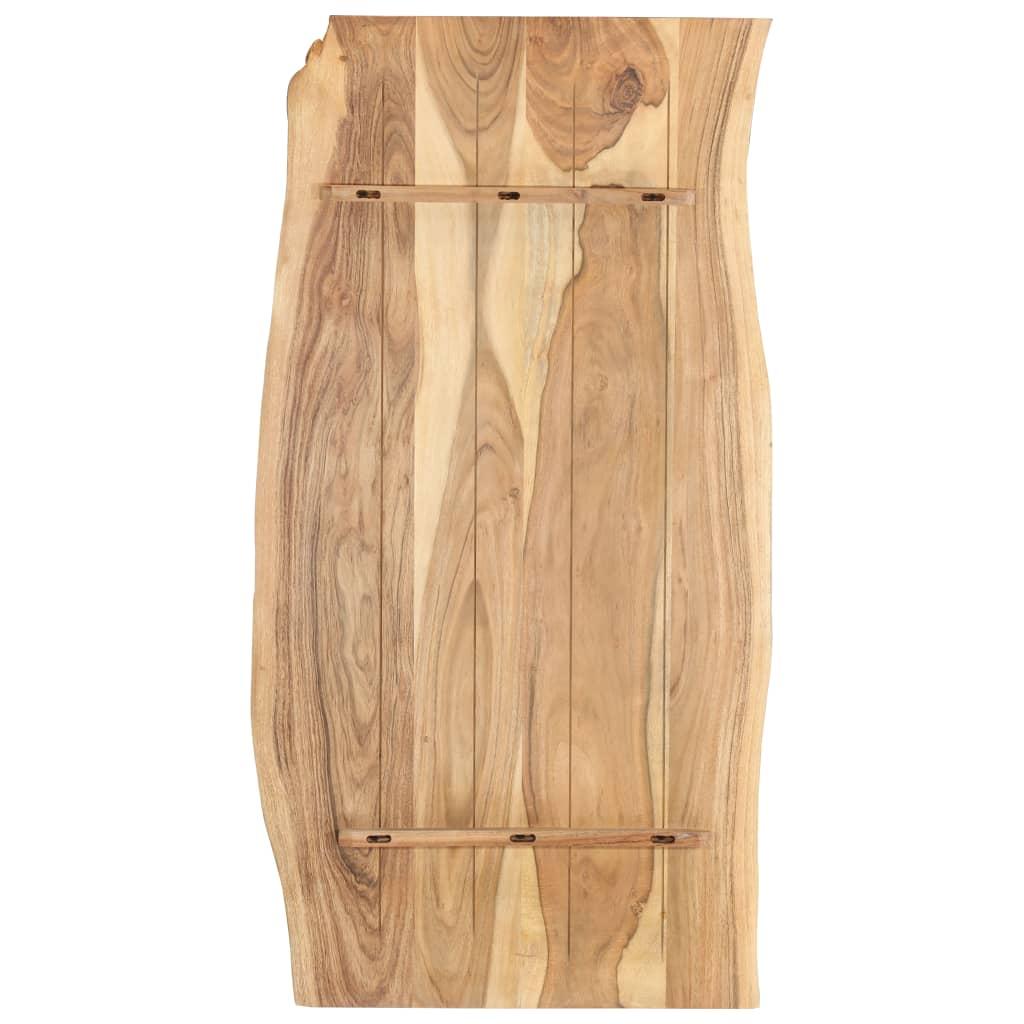 Bordsskiva massivt akaciaträ 120x60x2,5 cm
