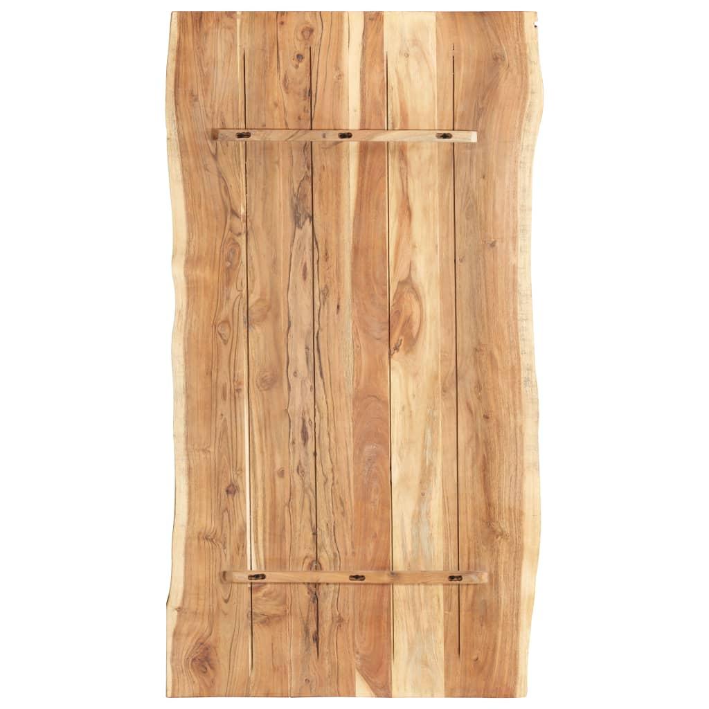 Bordsskiva massivt akaciaträ 120x60x3,8 cm