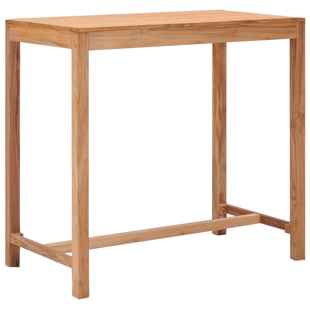 Ståbord för utomhusbruk 110x60x105 cm massivt teakträ