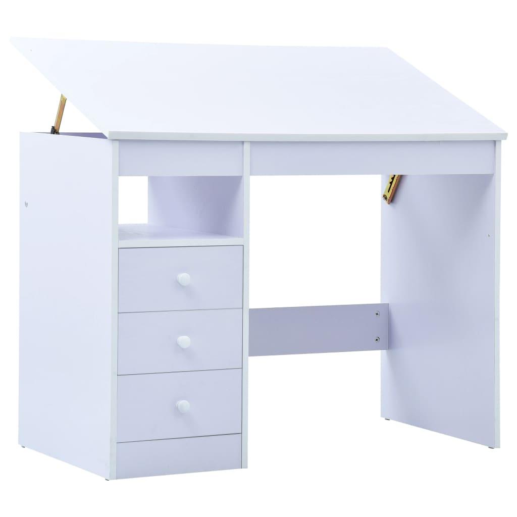 Skrivbord för barn lutbart vit