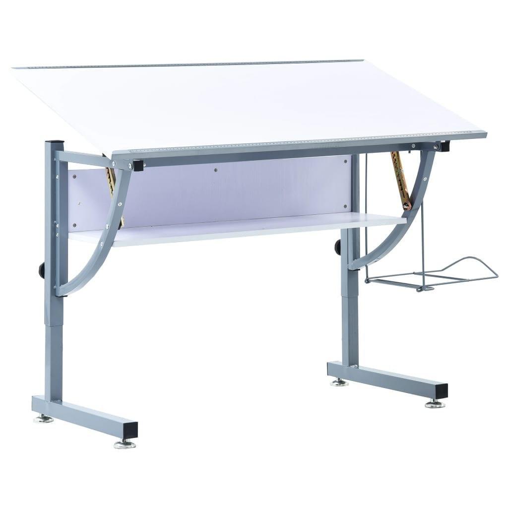 Ritbord för tonåringar vit 110x60x87 cm MDF