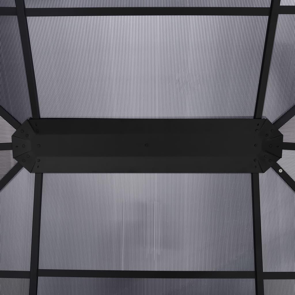 Paviljong med draperi 400x300x265 cm antracit