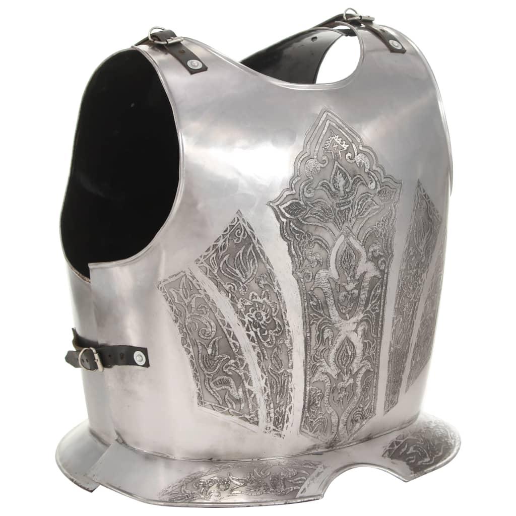 Medeltida bröst- och ryggharnesk replica LARP stål