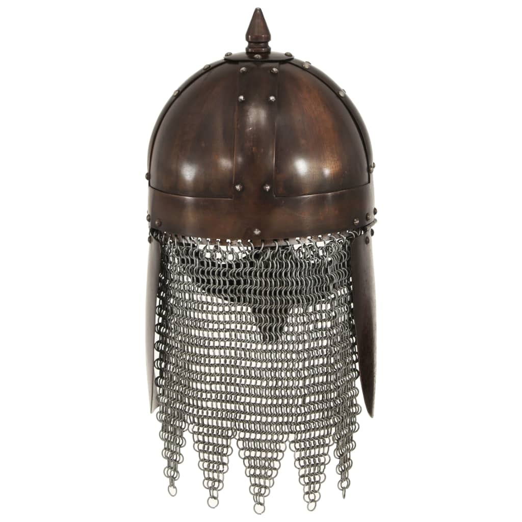 Vikingahjälm för LARP koppar stål