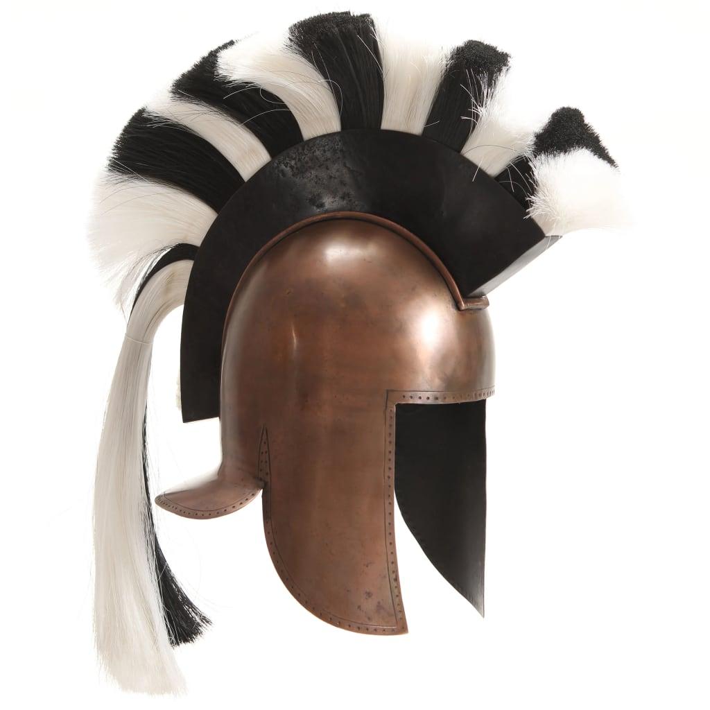 Grekisk riddarhjälm för LARP koppar stål