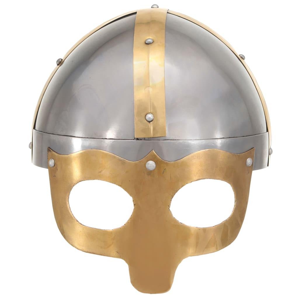 Vikingahjälm för LARP silver stål