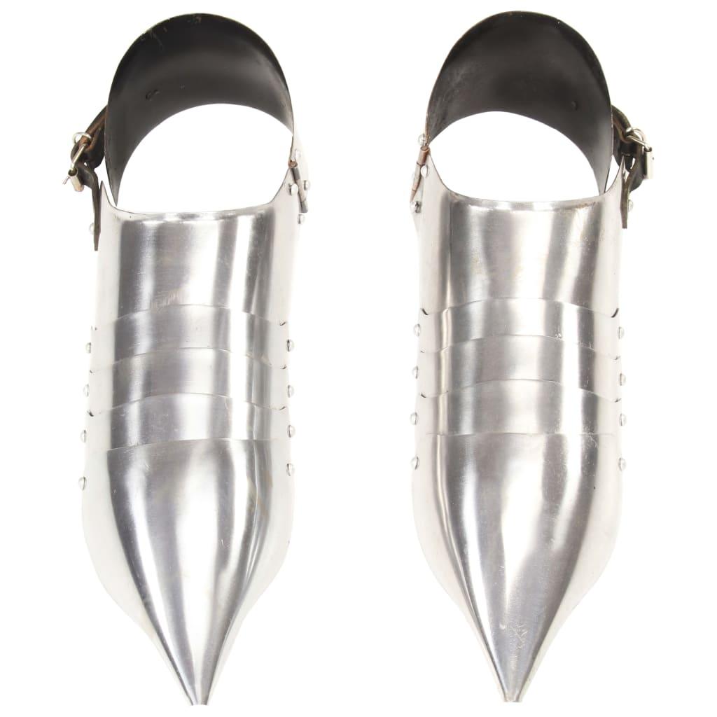 Medeltida harneskskor LARP silver stål