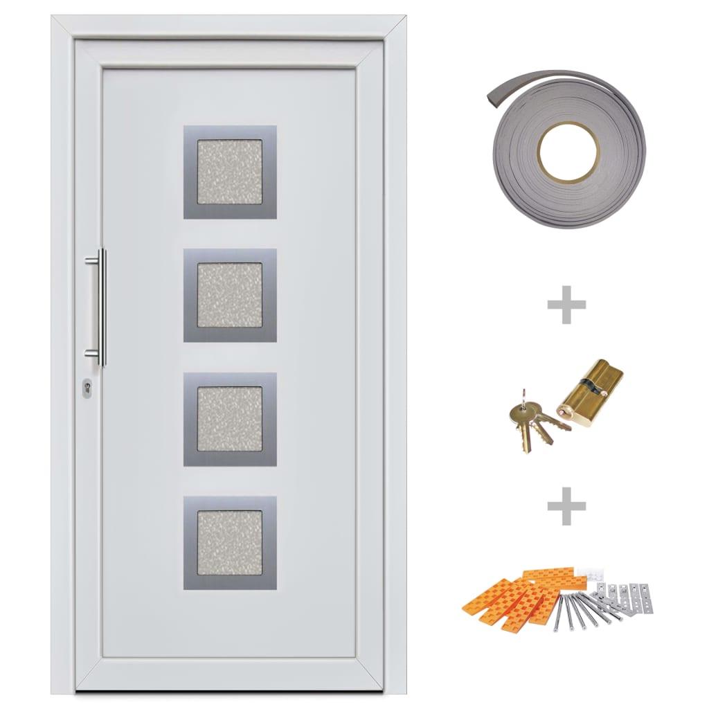 Ytterdörr vit 108x208 cm