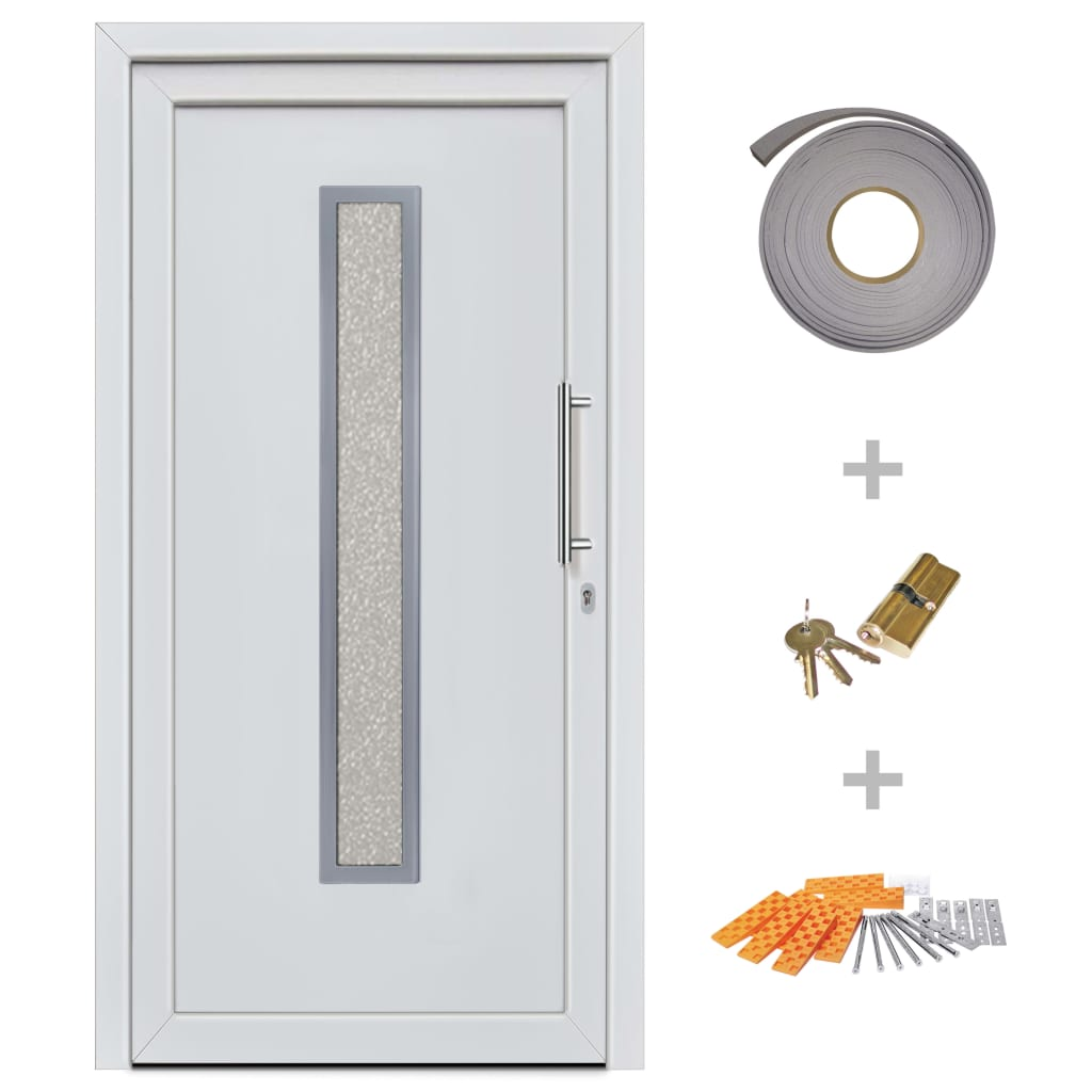 Ytterdörr vit 98x200 cm