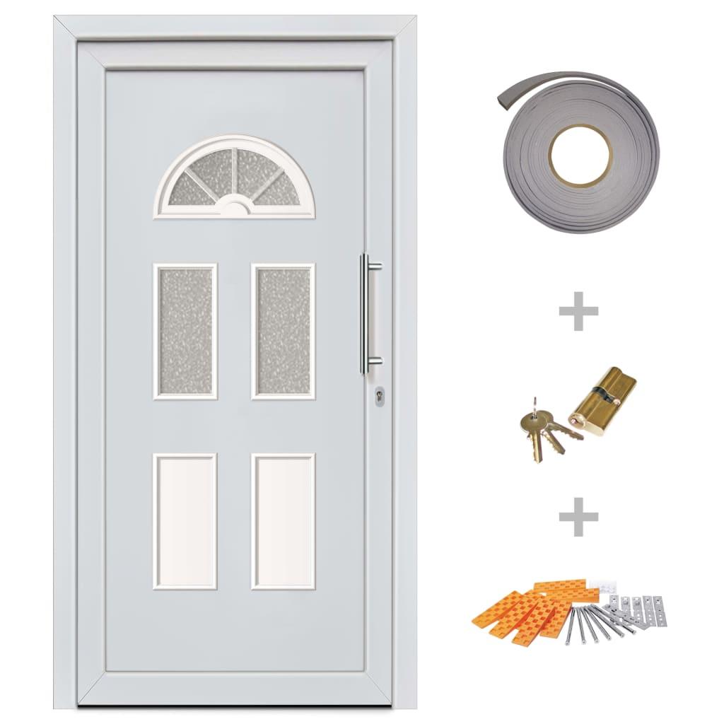 Ytterdörr vit 88x200 cm