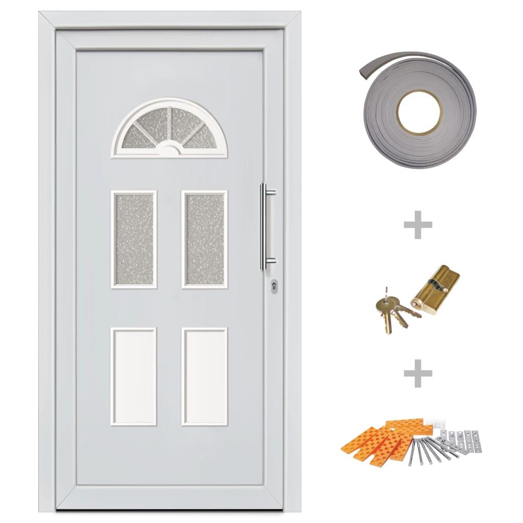 Ytterdörr vit 110x210 cm