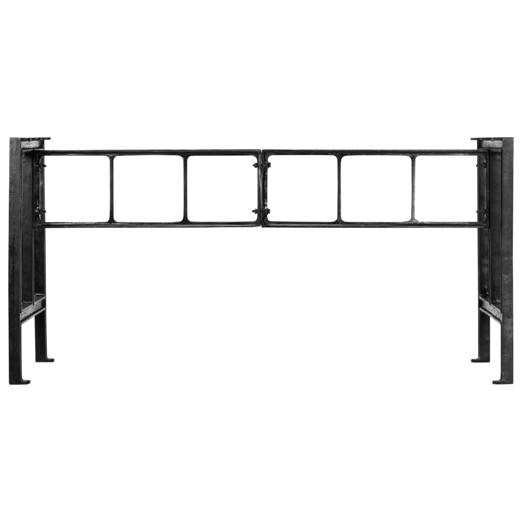 Bordsben för matbord 150x68x73 cm gjutjärn