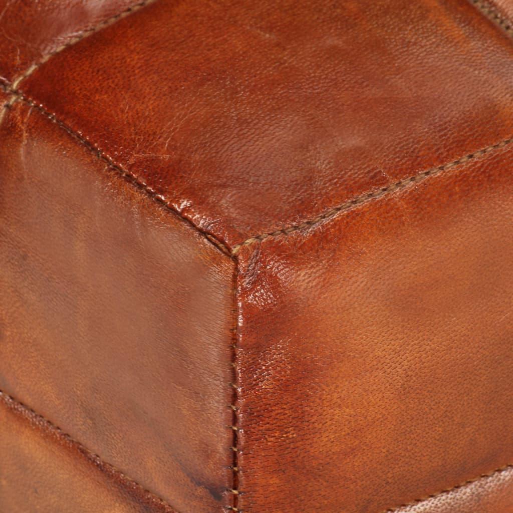 Fotpall brun äkta getskinn