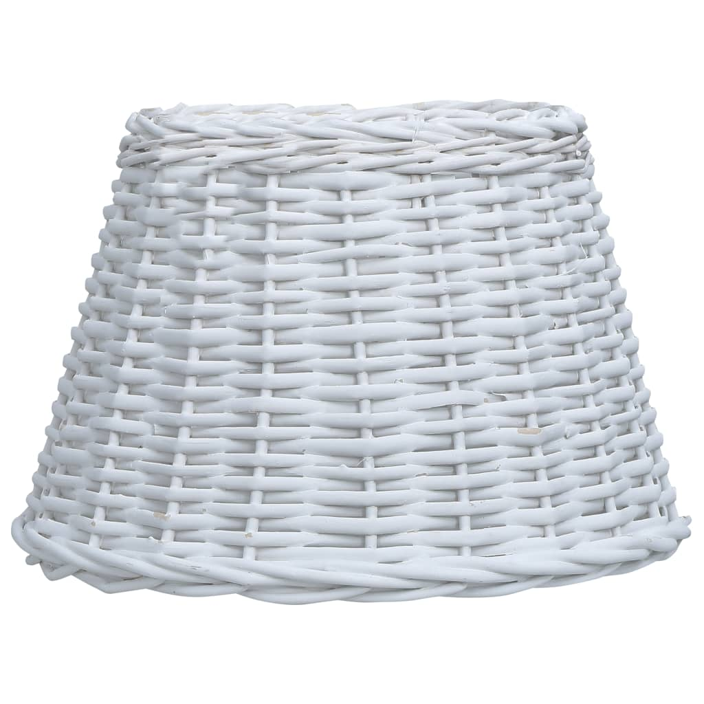 Lampskärm korg 30x20 cm vit