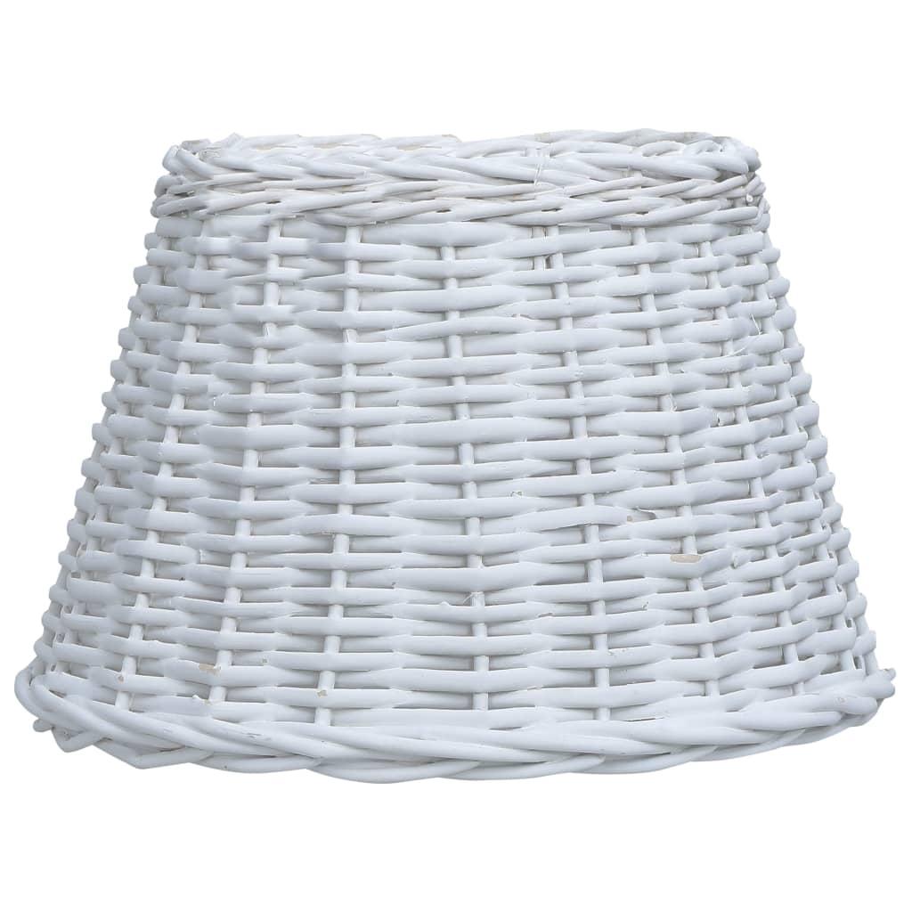 Lampskärm korg 40x26 cm vit